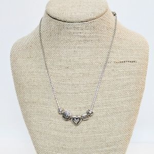 Brighton Heart Silver Charm Necklace